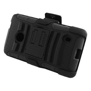 For T Mobile Nokia Lumia 521 Windows Phone 8 Case Black Black Stand Holster