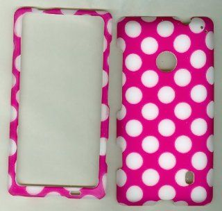 NOKIA LUMIA 521 520 T MOBILE AT&T METRO PCS PHONE CASE COVER FACEPLATE PROTECTOR HARD RUBBERIZED SNAP ON NEW CAMO PINK WHITE POLKA DOT Cell Phones & Accessories