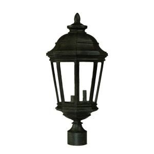 Acclaim Lighting Barrington Collection Post Mount 3 Light Outdoor Black Coral Light Fixture 217BC