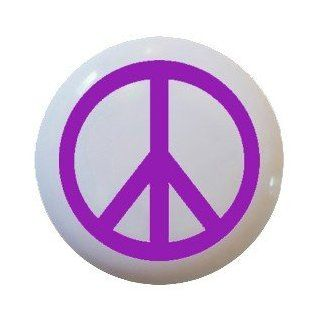 Purple Peace Sign Ceramic Knobs Pulls Kitchen Drawer Cabinet Vanity Closet 529   Cabinet And Furniture Knobs