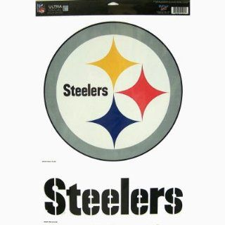 PITTSBURGH STEELERS REMOVABLE CAR TRUCK WINDOW WALL DECAL SET (2)  Automotive Decals  Sports & Outdoors