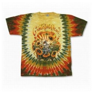 "Grateful Dead ""Sunflower"" Tie Dye T Shirt   XX Large at  Men�s Clothing store Fashion T Shirts"