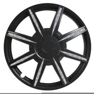 Pilot Diamond Dust 14 Inch Wheel Cover, Matte Black WH531 14B B Automotive