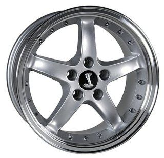 Ford Mustang Cobra Style Wheel Silver Wheels Rims 1994 1995 1996 1997 1998 1999 2000 2001 2002 2003 2004 2005 94 95 96 97 98 99 00 01 02 03 04 05 Automotive