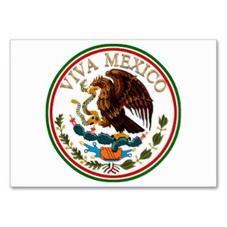 Viva Mexico Mexican Flag Icon w/ Gold Text Business Card Template