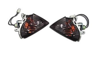 Suzuki GSXR 06 07 600 & 750, 05 06 1000 Rear Flush Smoked Turn Signals Blinkers Automotive