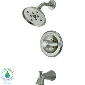 Delta Lahara Single Handle 1 Spray 2.0 GPM Tub and Shower Faucet in Stainless with H2Okinetic 144938 SSH2O