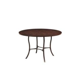 Hillsdale Furniture Cameron Metal Dining Table with Wood Top 4671DTB