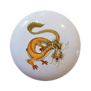 Chinese Dragon Ceramic Knobs Pulls Kitchen Drawer Cabinet Vanity Closet 536   Cabinet And Furniture Knobs