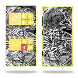 Protective Vinyl Skin Decal Cover for Nokia Lumia 520 Cell Phone T Mobile Sticker Skins Chrome Water Cell Phones & Accessories