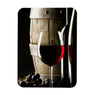 Wine glass and barrel magnet