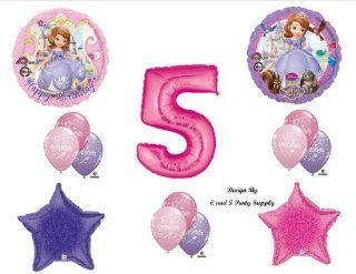 Disney's SOFIA THE FIRST FIFTH 5TH Happy Birthday PARTY Balloons Decorations Supplies