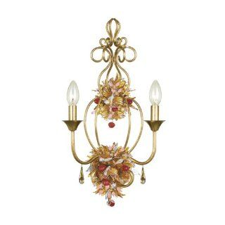 Gold Coast Lighting Antique Gold Leaf Wrought Iron Wall Sconce