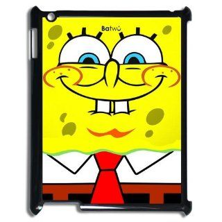 Funny SpongeBob Squarepants Smile Printed iPad 2 3 4 Case Cover Cell Phones & Accessories