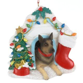 "Pack of 6 German Shepherd Dog Christmas Ornaments for Personalization 3.75""   Christmas Ball Ornaments"