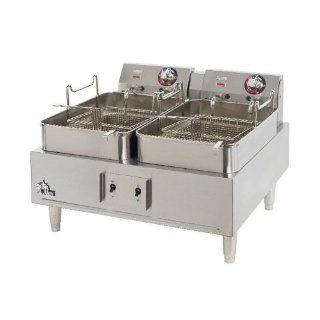 Star Max 530TF 30 Pound Twin Pot Commercial Countertop Deep Fryer 11,500W Kitchen & Dining