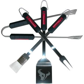 R & D Enterprises, Inc. Houston Texans 4 piece grilling utensil set