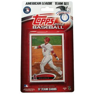 Topps 2012 MLB All Star American League Official Team Baseball Card Set of 17