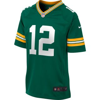 NIKE Youth Green Bay Packers Aaron Rodgers Game Team Color Jersey   Size Medium