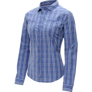MOUNTAIN HARDWEAR Womens TrinaLake Plaid Long Sleeve Shirt   Size 12,