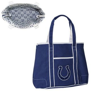 Concept One Indianapolis Colts Team Color Hampton Durable Canvas Logo Tote