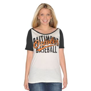 G III Womens Baltimore Orioles Dinger Short Sleeve T Shirt   Size Large
