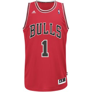 adidas Mens Chicago Bulls Derrick Rose Replica Road Jersey   Size Medium, Red
