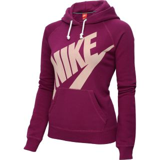NIKE Womens Rally Pullover Hoodie   Size Medium, Raspberry/sail