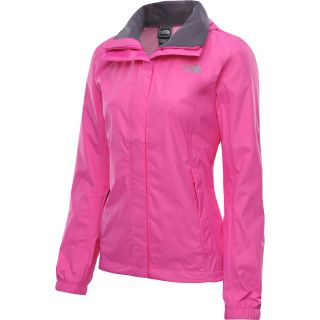 THE NORTH FACE Womens Resolve Rain Jacket   Size Medium, Linaria Pink