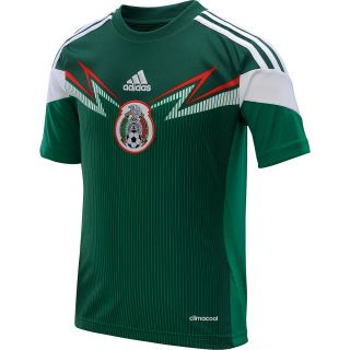 adidas Youth Mexico 2014 World Cup Home Replica Soccer Jersey   Size Smallreg,