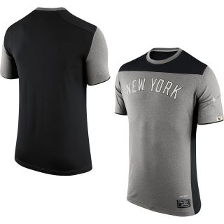 NIKE Mens New York Yankees Speed Legend Fitted Short Sleeve T Shirt   Size