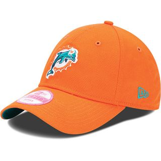 NEW ERA Womens 9FORTY Sideline NFL Miami Dolphins One Size Fits All Cap, Orange