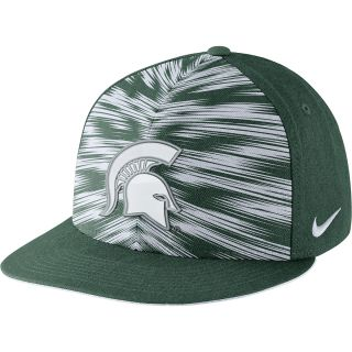 NIKE Mens Michigan State Spartans Players Game Day True Snapback Cap   Size