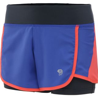 MOUNTAIN HARDWEAR Womens Pacer 2in1 Running Shorts   Size XS/Extra Small,