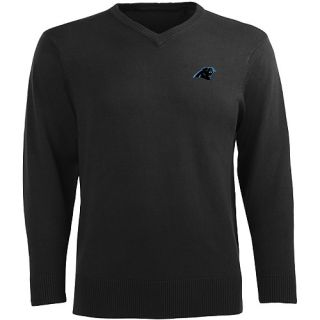 Antigua Mens Carolina Panthers Ambassador Knit V Neck Sweater   Size XL/Extra