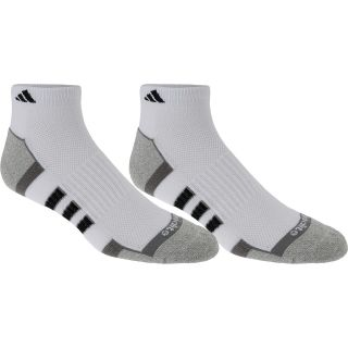 adidas Mens ClimaLite II Low Cut Socks   2 Pack   Size Large, White/aluminum