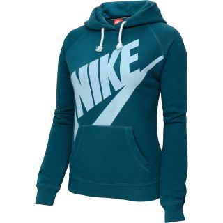 NIKE Womens Rally Pullover Hoodie   Size Medium, Sea Pine