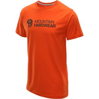 MOUNTAIN HARDWEAR Mens MHW Graphic Short Sleeve T Shirt   Size Xl, Orange