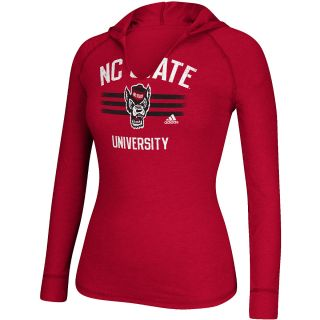 adidas Womens North Carolina State Wolfpack University Hooded Long Sleeve T