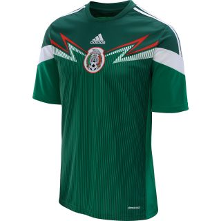 adidas Mens Mexico 2014 World Cup Home Replica Soccer Jersey   Size Small,