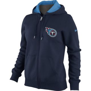 NIKE Womens Tennessee Titans Tailgater Fleece Full Zip Hoody   Size Large,