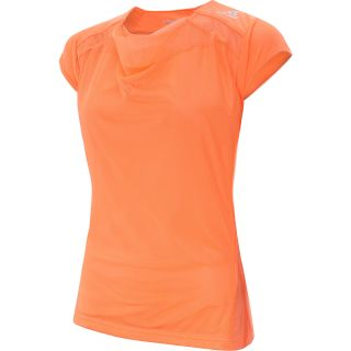 adidas Womens adiZero Cap Sleeve Tennis T Shirt   Size Small, Orange/white