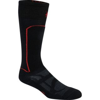 SMART WOOL Womens Light Cushion Ski Socks   Size Large, Black/red