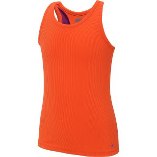 NEW BALANCE Girls Focus Rib Tank Top   Size Xl, Orange