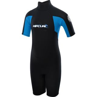RIP CURL Kids Freelite Short Sleeve Springsuit   Size 14, Black/blue