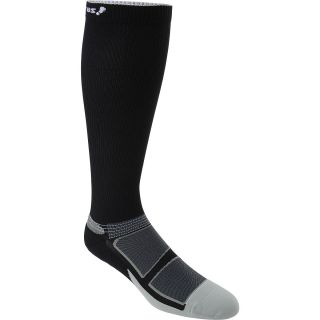 FEETURES Elite Light Cushion Compression Socks   Size Medium, Black/silver