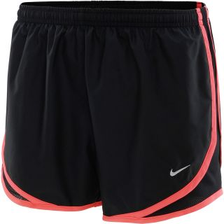 NIKE Womens Tempo Running Shorts   Size Large, Black/crimson