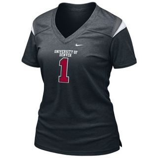 NIKE Womens Denver Pioneers Spring 2013 Alternate Touchdown T Shirt   Size