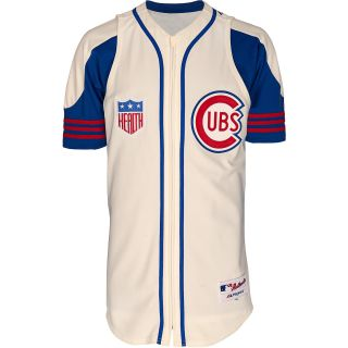 MAJESTIC ATHLETIC Mens Chicago Cubs 1942 Sunday Authentic Replica Home Jersey