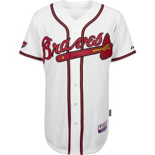 Majestic Athletic Atlanta Braves Authentic Home Cool Base Jersey w/Hank Aaron